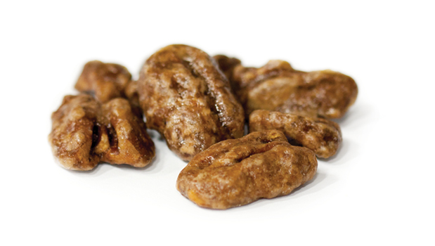 Maple syrup pecans